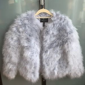 BCBG MAXAZRIA Genuine Feather Jacket